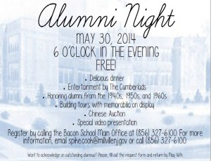 alumni night flyer